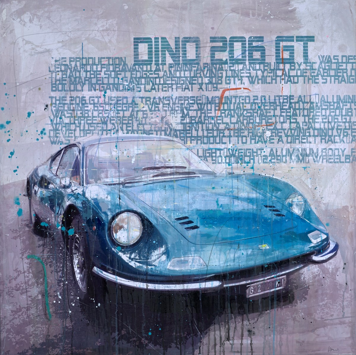 Dino 206 GT by markus haub -  sized 39x39 inches. Available from Whitewall Galleries